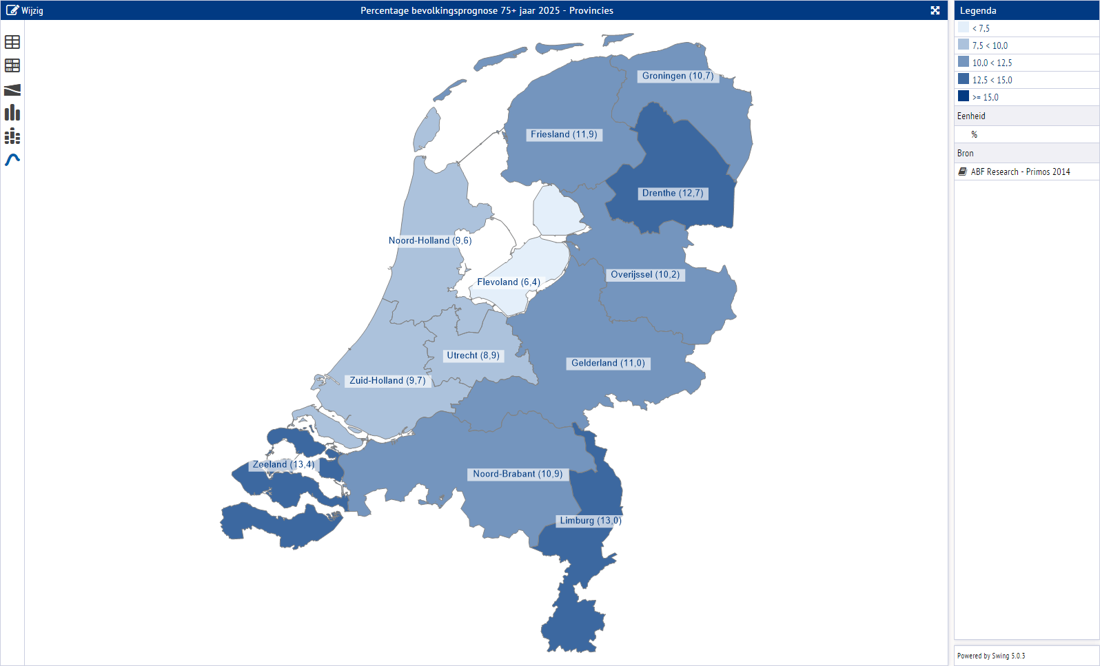 LinkinCare map of Holland